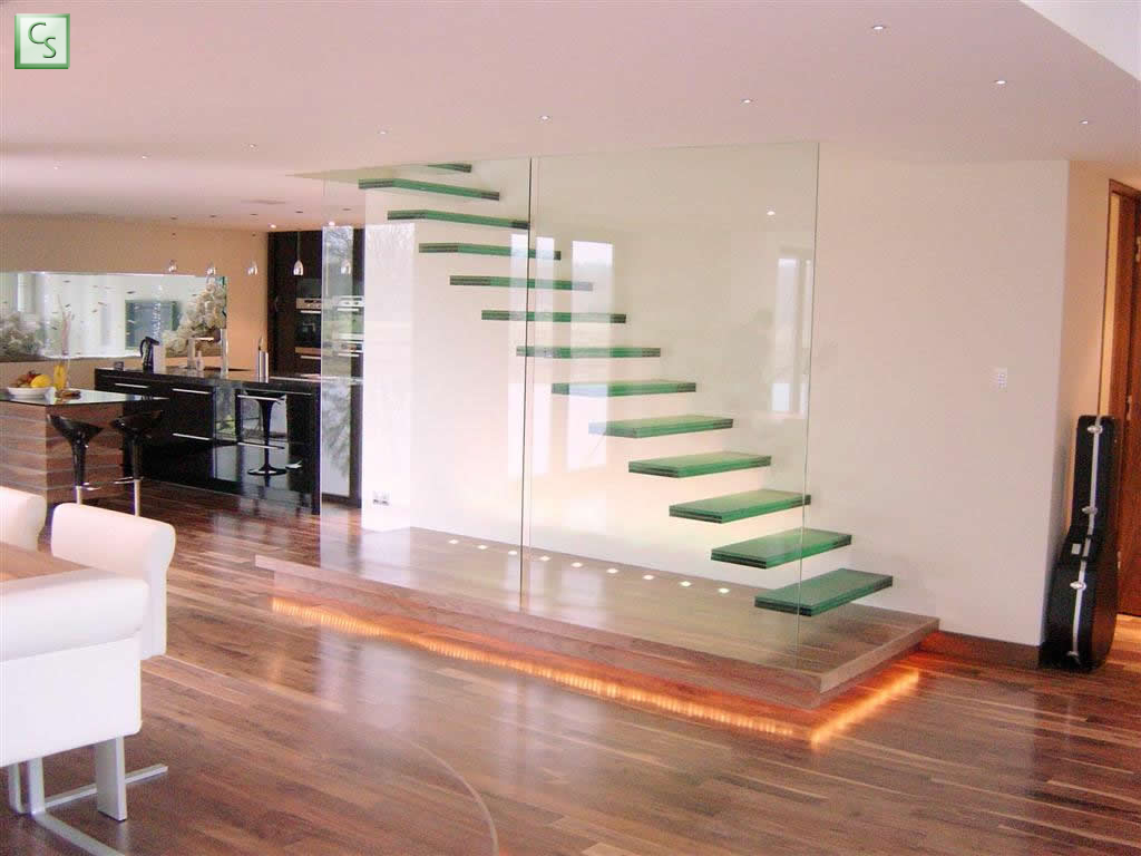 transparent glass stairs. Black Bedroom Furniture Sets. Home Design Ideas